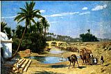 cape Canvas Paintings - Landscape - Caravan