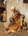 Jean-leon Gerome Canvas Paintings - Pelt Merchant of Cairo