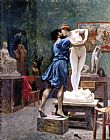 Jean-leon Gerome Canvas Paintings - Pigmaliao e Galateia