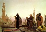 Jean-leon Gerome Canvas Paintings - Prayer in Cairo