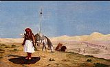 Jean-Leon Gerome Prayer in the Desert painting
