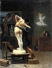 Jean-leon Gerome Canvas Paintings - Pygmalion and Galatea