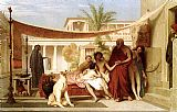 king Canvas Paintings - Socrates seeking Alcibiades in the house of Aspasia