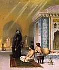Bath Canvas Paintings - The Harem Bath