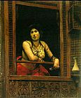 Jean-Leon Gerome Woman at Her Window painting