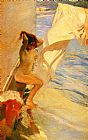 Joaquin Sorolla y Bastida Before Bathing painting