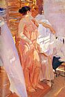 Joaquin Sorolla y Bastida The Pink Robe painting