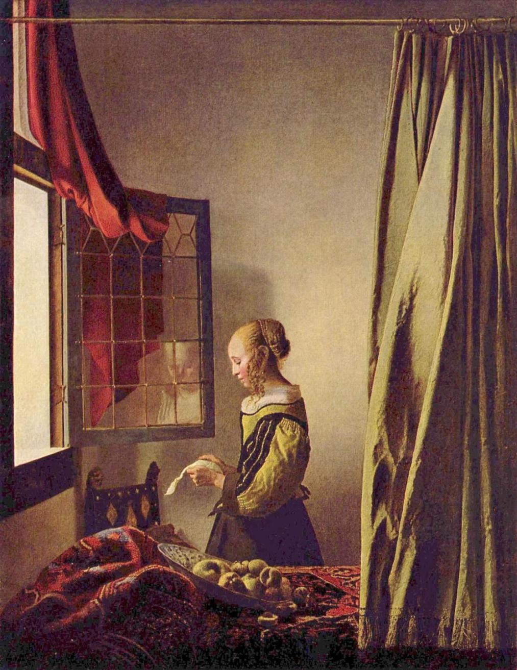 Johannes Vermeer Girl Reading a Letter at an Open Window