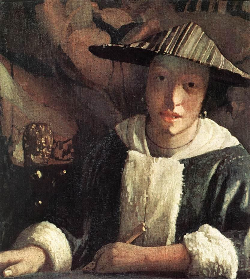 Johannes Vermeer Young Girl with a Flute