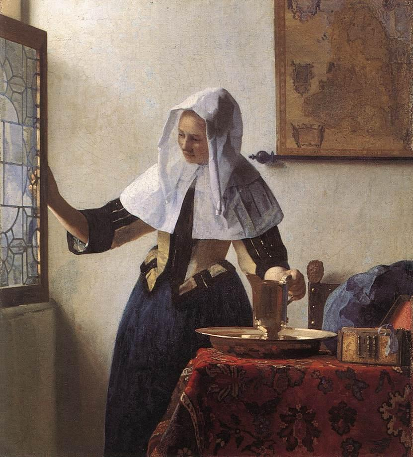Johannes Vermeer Young Woman with a Water Jug