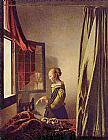 Famous Reading Paintings - Girl Reading a Letter at an Open Window