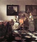 Johannes Vermeer The Concert painting