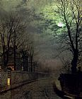 John Atkinson Grimshaw Famous Paintings - A Lane In Headingley Leeds