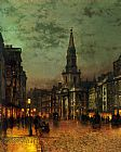 John Atkinson Grimshaw Famous Paintings - Blackman Street London