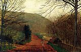 John Atkinson Grimshaw Wall Art - Forge Valley Scarborough