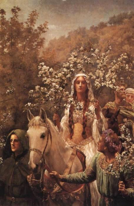 John Collier Guinevere's Maying