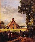 Famous Cottage Paintings - A Cottage in a Cornfield