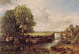 John Constable A View on the Stour near Dedham painting