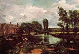 John Constable A Water-Mill painting