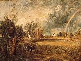 John Constable Cottage,Rainbow,Mill painting