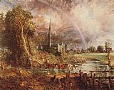 John Constable Salisbury Cathedral from the Meadows painting