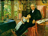 grand Canvas Paintings - James Wyatt and His Granddaughter Mary
