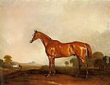John Ferneley Snr - A Chestnut Hunter in a Landscape