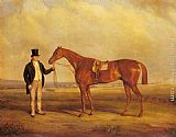 John Ferneley Snr - A Gentleman Holding Dangerous, the Winner of the 1833 Derby