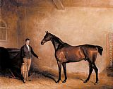 John Ferneley Snr - Mr. C. N. Hogg's Claxton and a Groom in a Stable