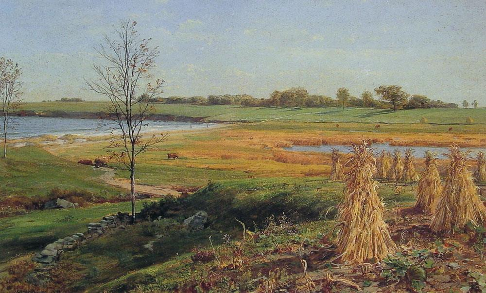 John Frederick Kensett Connecticut Shoreline in Autumn