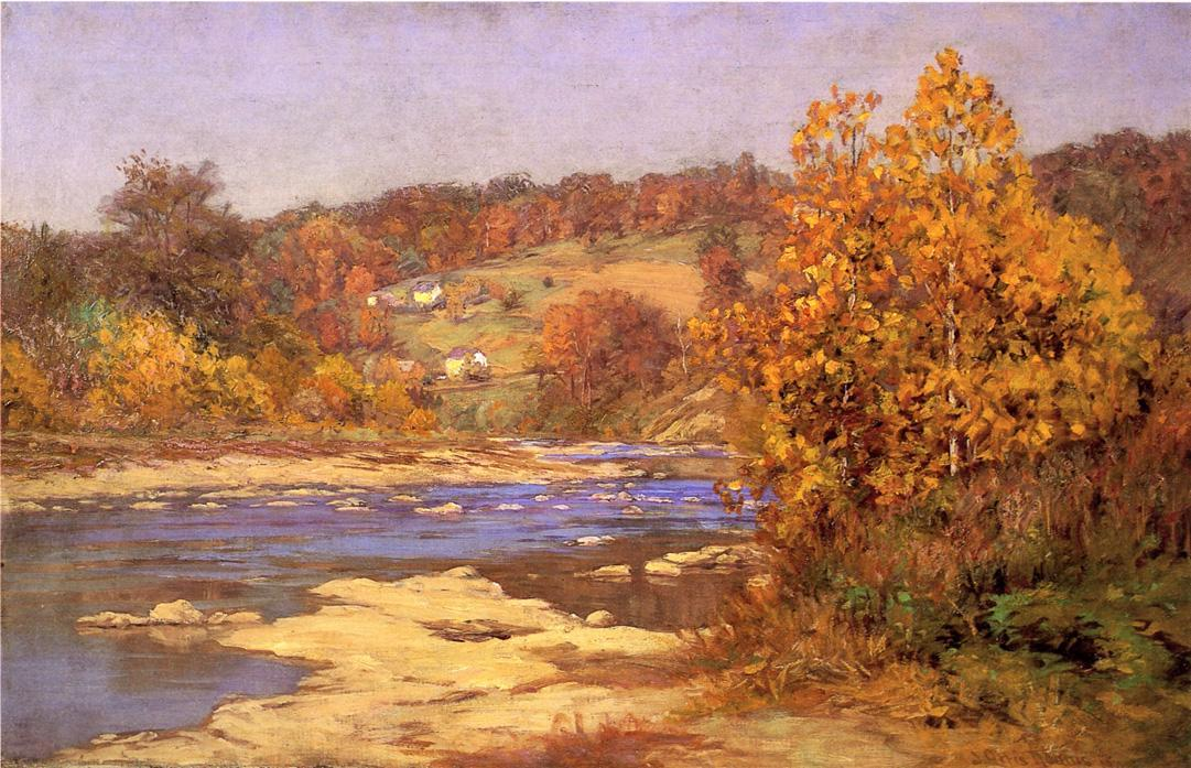 John Ottis Adams Blue and Gold