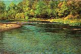 Famous Stream Paintings - Iredescence of a Shallow Stream