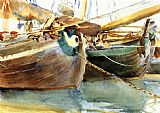 Famous Boats Paintings - Boats Venice