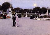 garden Canvas Paintings - In the Luxembourg Garden