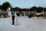 garden Canvas Paintings - In the Luxembourg Gardens