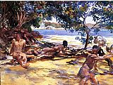 Bathers Canvas Paintings - The Bathers