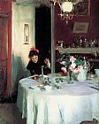 John Singer Sargent The Breakfast Table painting