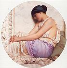 John William Godward A Grecian Girl painting