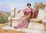 John William Godward Tranquillity painting