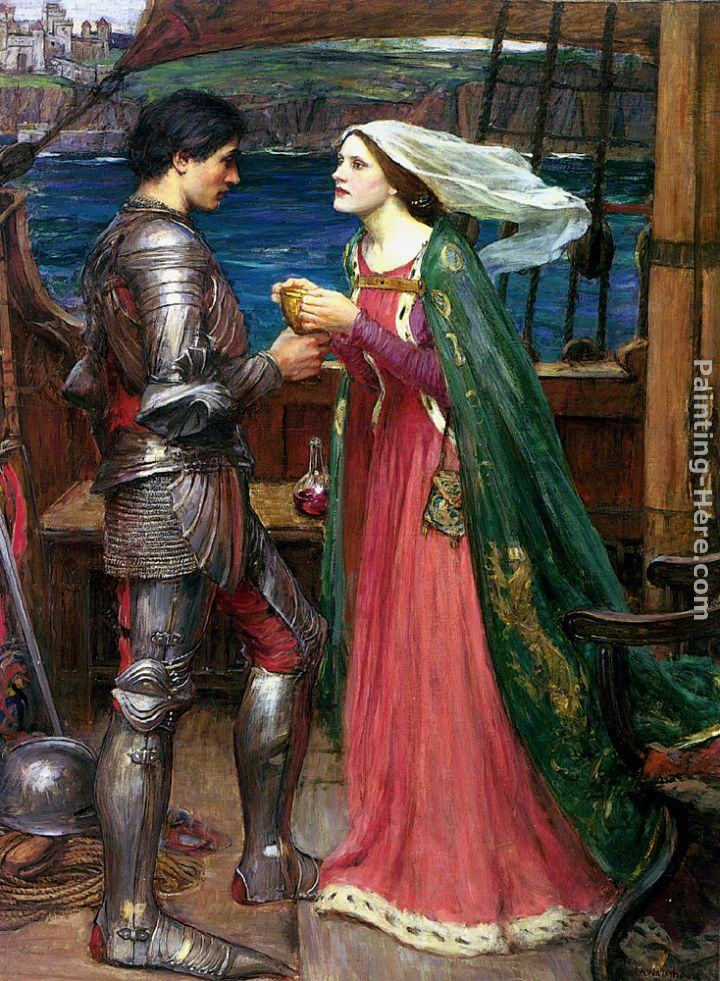 John William Waterhouse Tristan and Isolde with the Potion