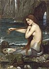 John William Waterhouse Famous Paintings - A Mermaid