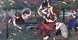 John William Waterhouse Flora and the Zephyrs painting