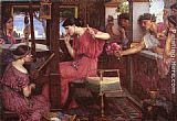 John William Waterhouse Penelope and the Suitors painting