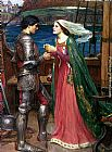 old Canvas Paintings - Tristan and Isolde with the Potion