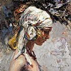 Jose Royo CONCENTRATION painting