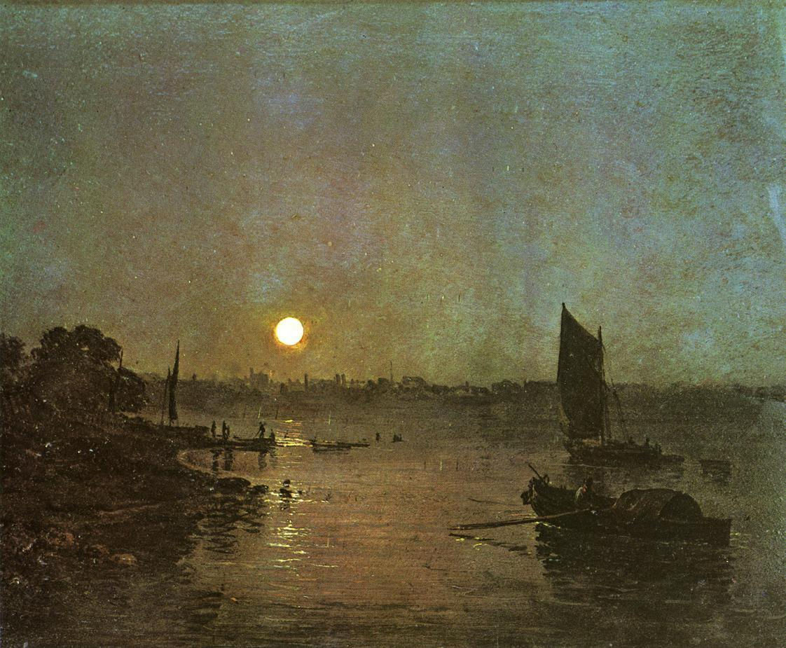 Joseph Mallord William Turner Moonlight A Study at Millbank