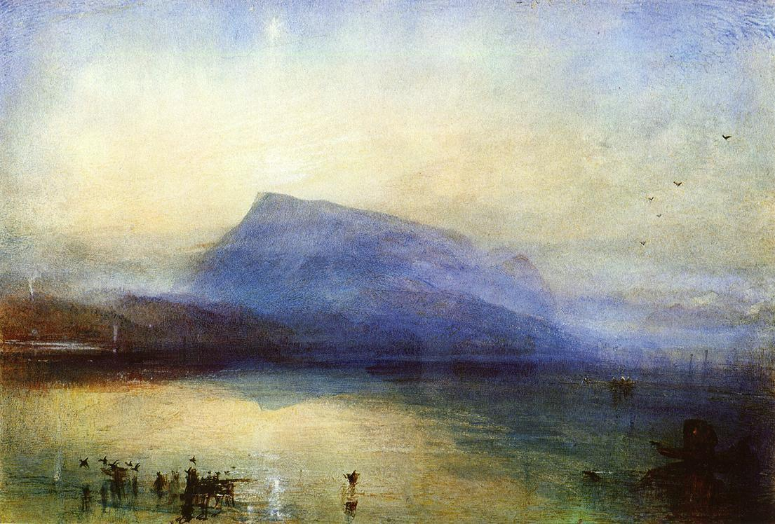 Joseph Mallord William Turner The Blue Rigi Lake of Lucerne Sunrise