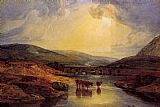 Bridge Canvas Paintings - Abergavenny Bridge Monmountshire clearing up after a showery day