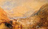Joseph Mallord William Turner Brunnen from the Lake of Lucerne painting