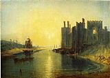 Famous Castle Paintings - Caernarvon Castle